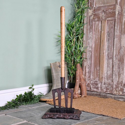 'Emily' Garden Fork Boot Scraper & Brush