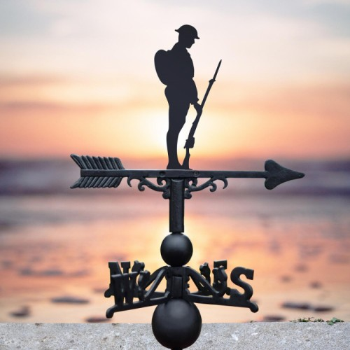 WW2 British Soldier Weathervane in Use in by a the Sea