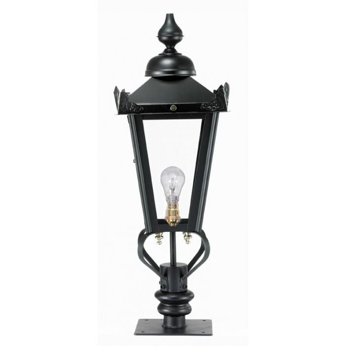 Black Victorian Style Pillar Light