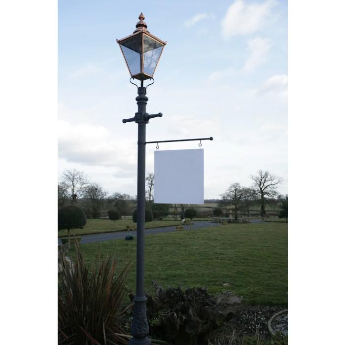 Lamp Post Hanging Sign Kit Black, Lamp Post Hanging Address Sign