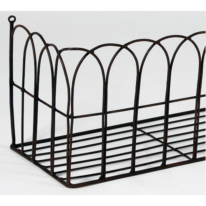 Ornamental Metal Round Top Garden Planter Arch: Pansy Potter, Arch Effect, Wrought Iron Wall Mounted