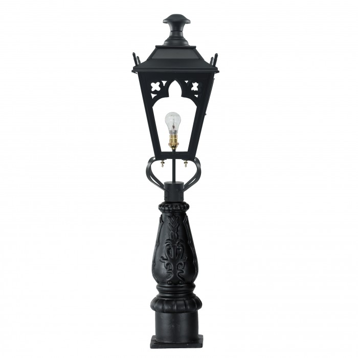 Black Gothic Driveway Or Patio Lamp Post Set ...
