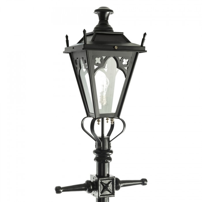 ... Black Gothic Lamp Post U0026 Lantern Set 2.3m ...