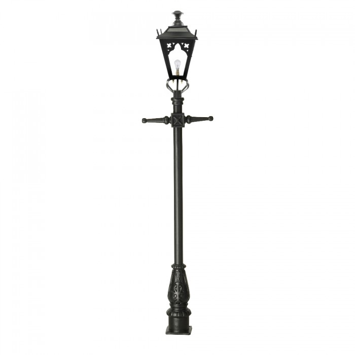 Black Gothic Lamp Post & Lantern Set 2