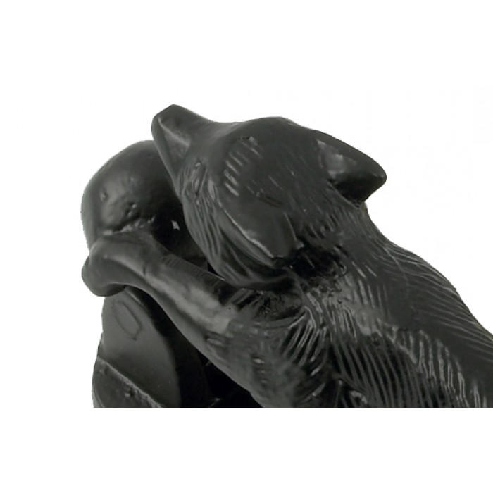 Black Iron Running Fox Door Knocker 140mm Black Country