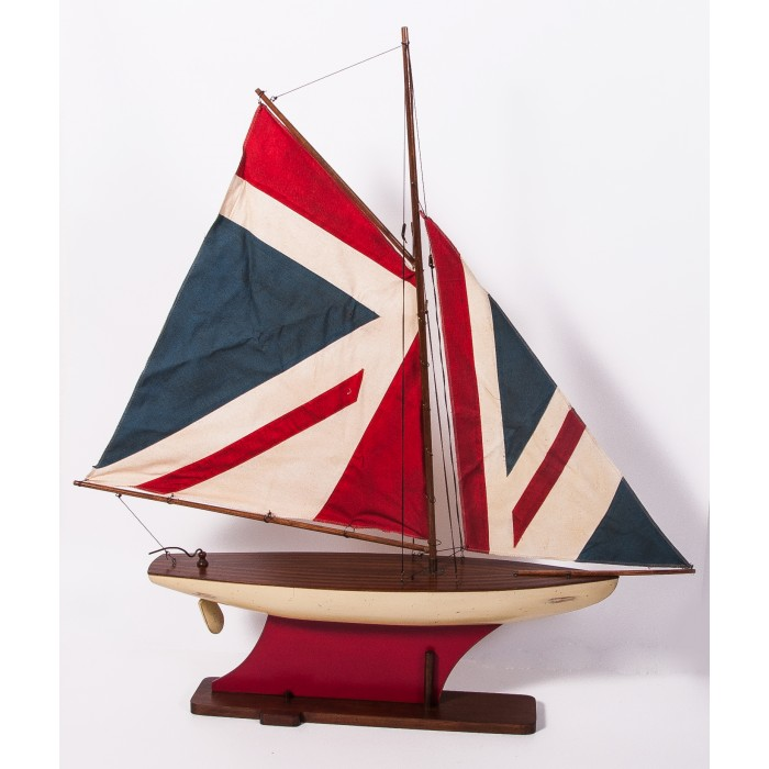 Imperial Fleet Union Jack Model Yacht Interior Ornaments Sculptures Living Interiors