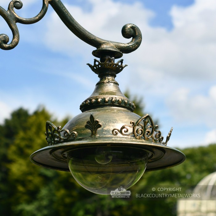 """""""The Ivy"""" Antique Pale Green Ornate Gothic Cast Iron Lamp"""