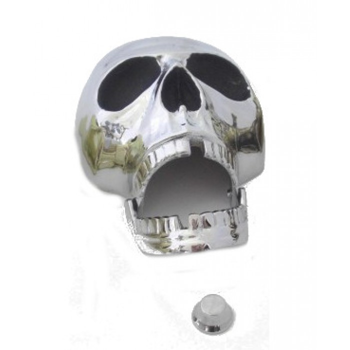 Chrome Brass Deluxe Skull Door Knocker Jaw droppingly original
