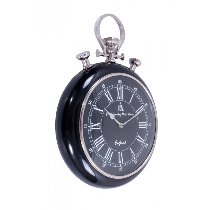 pocket watch wall clock pocket wall clock with black and surround 29539