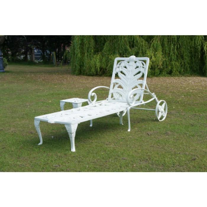 coalbrookdale reclining garden sun lounger black country. Black Bedroom Furniture Sets. Home Design Ideas