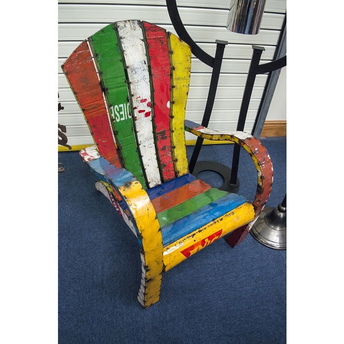 Mollren Court Colourful Recycled Metal Chair Conservatory Furniture Garden Furniture