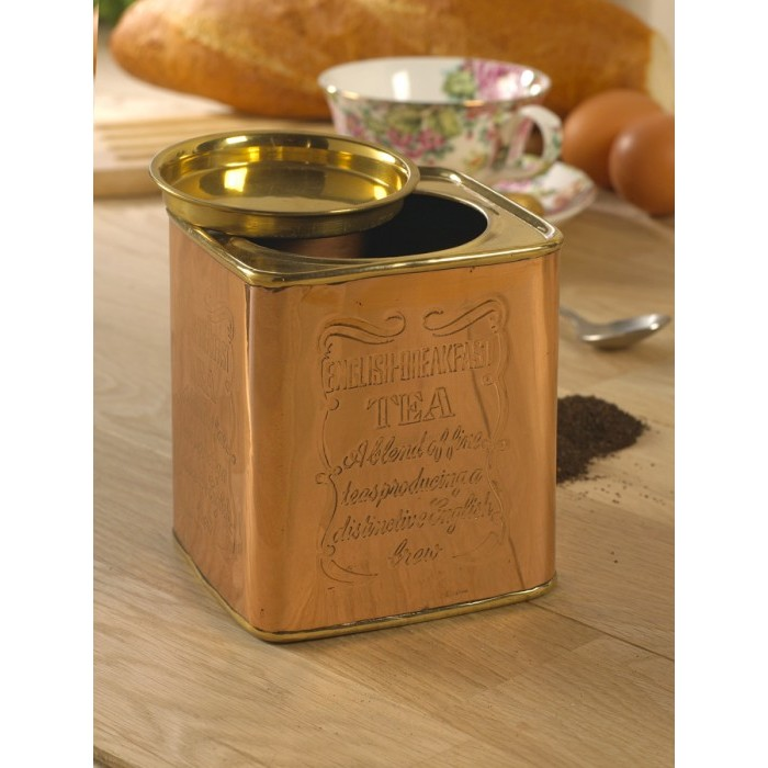 Copper And Polished Brass Tea Caddy Amp Coffee Tin Black Country Metalworks