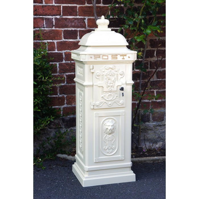 """""""Letters Of Love"""" Wedding Camden Post Box In White"""