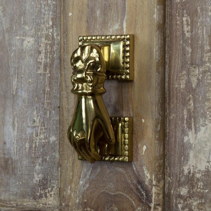 ... Polished Brass Hand Door Knocker ...