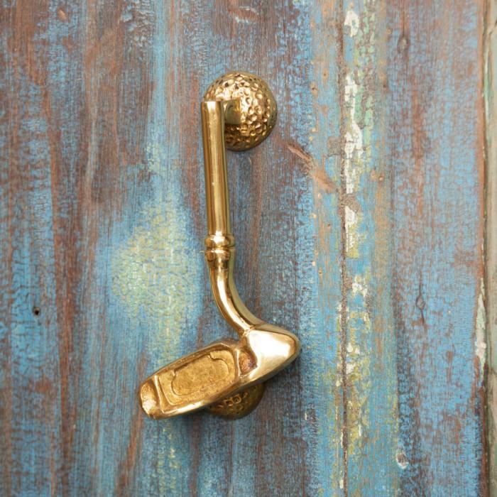 ... Polished Brass Golf Club Door Knocker ...