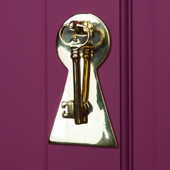 ... Polished Brass Key Door Knocker With Back Plate ...