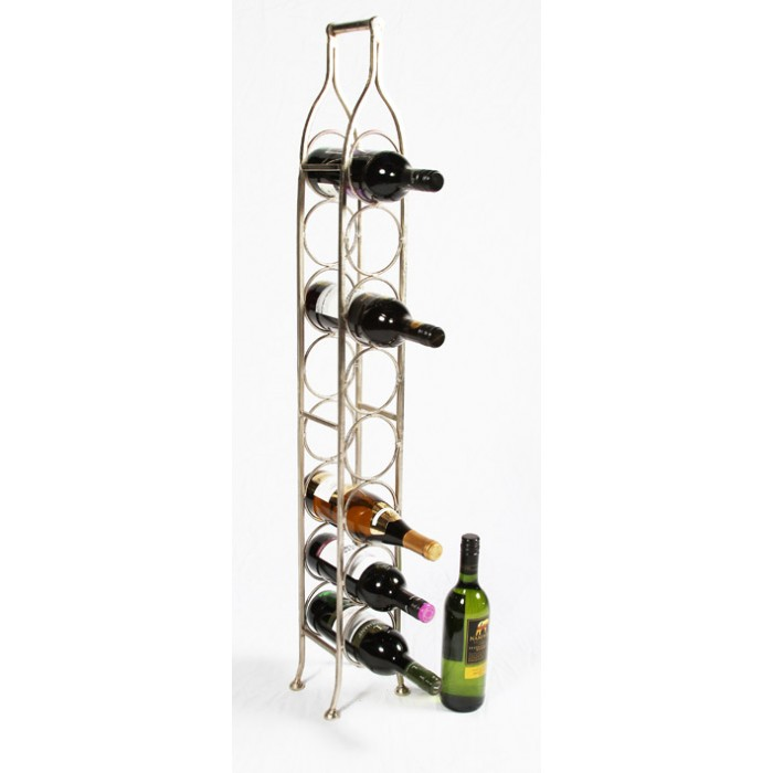 Monticello Space Saving Wine Rack Small Black Country Metal Works