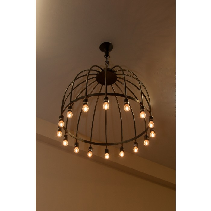 Braidhill Lounge Statement Ceiling Light Black Country