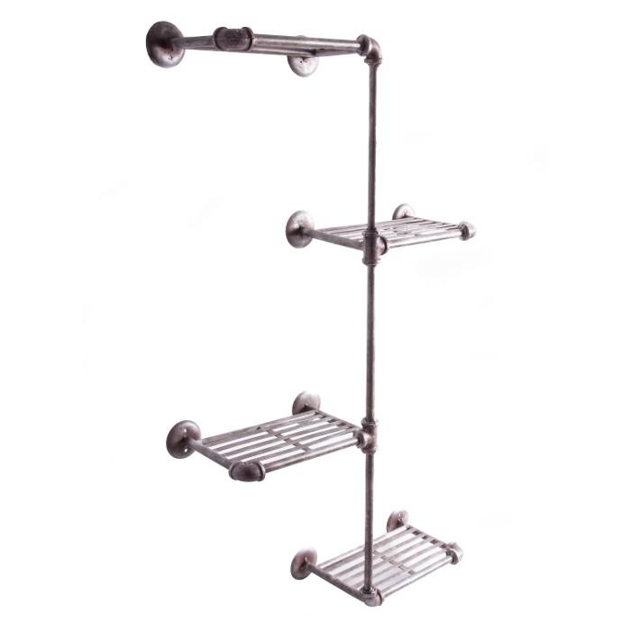 madsen avenue industrial style bathroom shelf bathroom. Black Bedroom Furniture Sets. Home Design Ideas