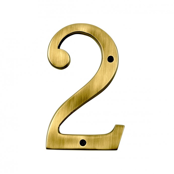 Big Bronse House Numbers /'2/' and /'6/'