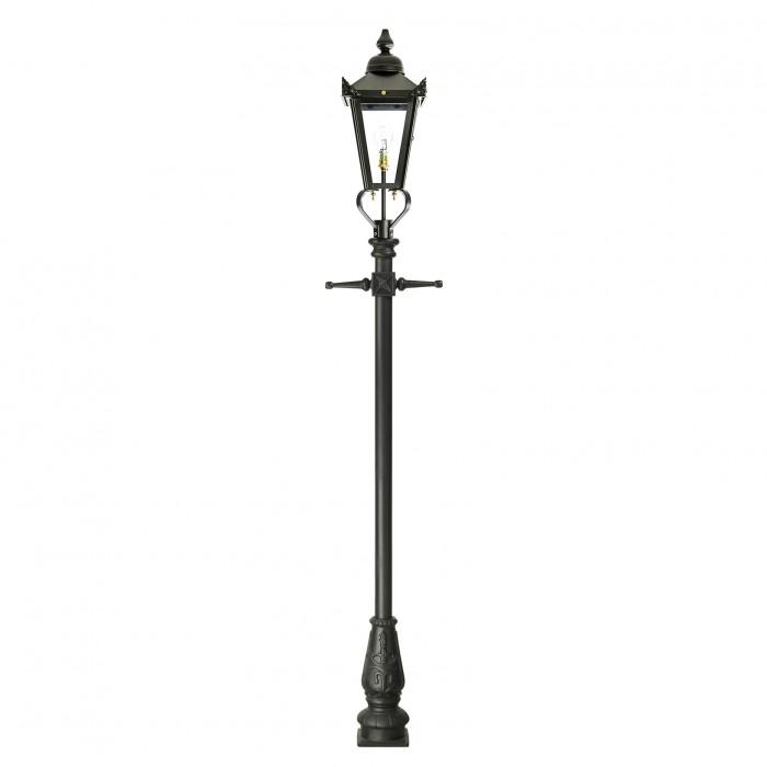 Black Victorian Style Pillar Light: Victorian Lamp Post - Black 2.3m