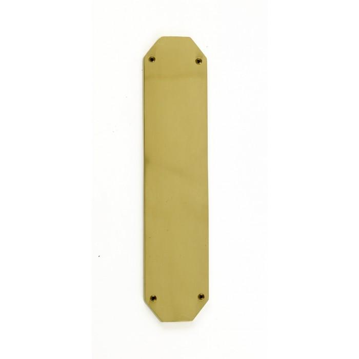 Bellmont hall polished brass edwardian finger plate and for Door finger plates