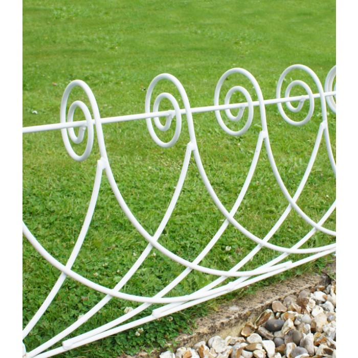 Ornate Scroll Lawn Edging Black Country Metalworks