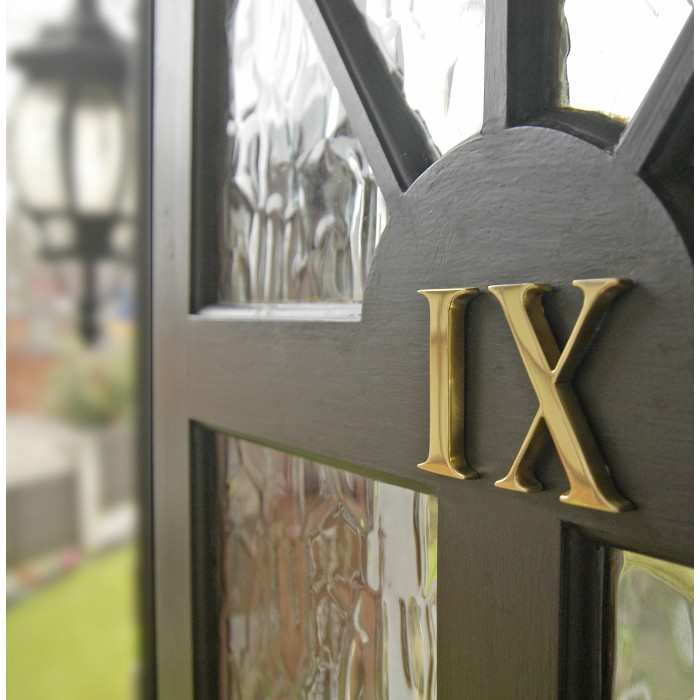 """3/"""" Polished Brass Face Fix Numbers"""