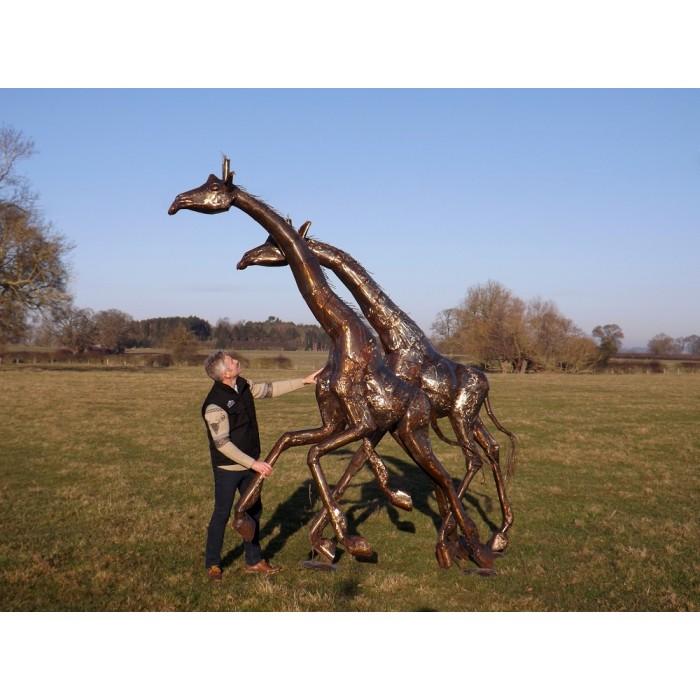 U201cKingsburghu201d Kordofan Giraffe Garden Sculptures