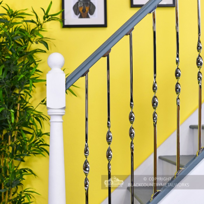 Hand Made Stainless Steel Stair Spindles Rake Bracket - Single Different Designs Available