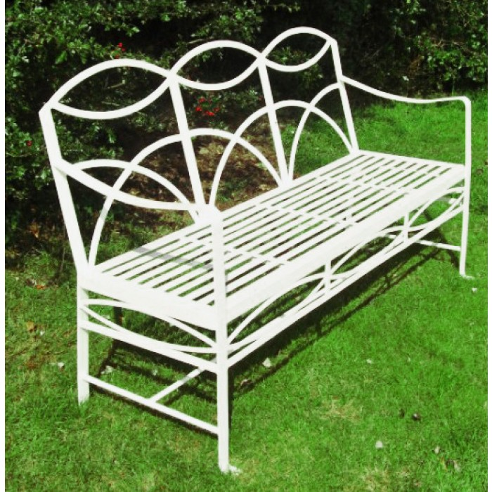 The Dudley Wrought Iron Garden Bench Black Country Metalworks