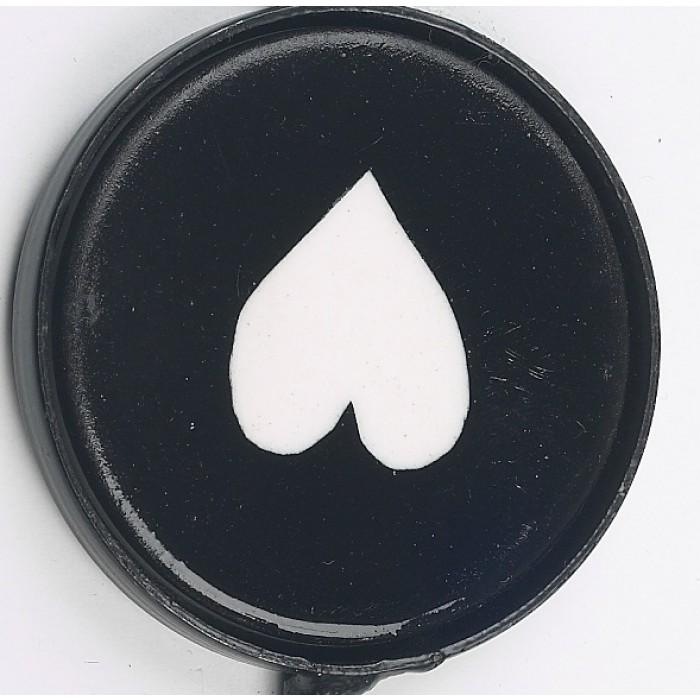 Upside Down Black Heart Print Iron Hook Black Country