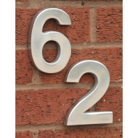 Polished Aluminium Bold Rear Fix Numbers