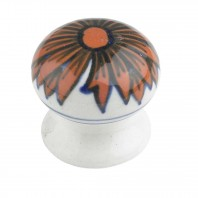 """Chrysanthemum"" Ceramic cupboard knob - V3"