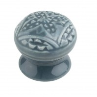 """Celtic"" Ceramic cupboard knob - V14"