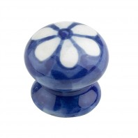 """Crazydaisy"" Ceramic cupboard knob - V6"