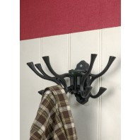 """Kynaston Avenue"" Swivel Hook Rack in Black Iron"