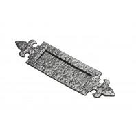 "14¼"" Antique Black Iron Fleur-De-Lys Inspired Door Letter Plate"