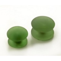Green Frosted Glass Cupboard Knob