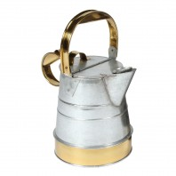 Galvanised & Polished Brass Watering Can - 1 Gallon