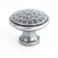 40mm Hamered Pewter Cabinet Knob