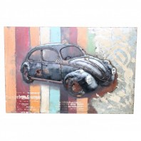 Vintage Beetle Car 3D Wall Art