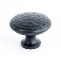 40mm Beeswax Hammered Iron Cabinet Knob