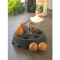 Edwina Cast Iron Egg Holder (Holds 6 Eggs)