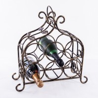 'Lille' Table Top Vintage Wine Rack