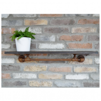 76cm Antique Industrial Style Shelf