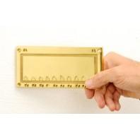 Rectangular detailed engraveable sign