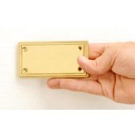 Rectangular stepped engraveable plaque