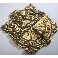 Antique Polished Brass 'Anaximander' Sundial - 310mm