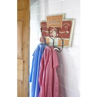 Three Hook Coat Rail - Vestiaire